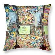 Nerds Smarties And More Candies Throw Pillow