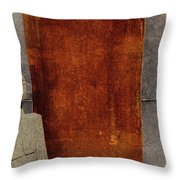 Nero Rustic Sculpture Wall Throw Pillow