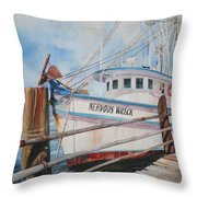 Nervous Wreck Throw Pillow