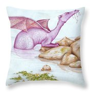 Nessy's Cousin Throw Pillow