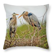 Nesting Blue's Throw Pillow
