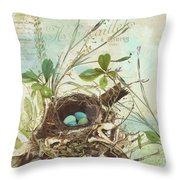 Nesting I Throw Pillow