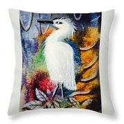 Nesting Resting Throw Pillow