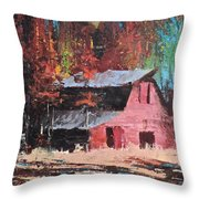 Nestled In The Pines Throw Pillow