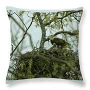 Nestlings Throw Pillow