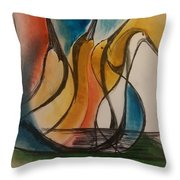 Nestlings Number Two Throw Pillow by Gregory Dallum