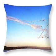 Net Fishing Sea Of Galilee Throw Pillow