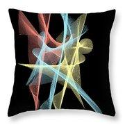 Net Fusion Throw Pillow