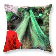 Net Repair Never Ends Throw Pillow