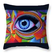 Netra Daan_by Aatmica Throw Pillow