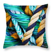 Nets And Knots Number Five Throw Pillow by Elena Nosyreva