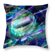 Netted Jewel Throw Pillow