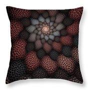 Netted Petals Throw Pillow