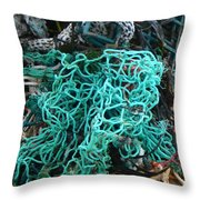 Netting And The Sea Throw Pillow