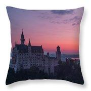 Neuschwanstein Castle Landscape Throw Pillow