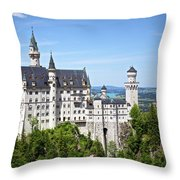 Neuschwanstein Castle Of Germany Throw Pillow