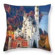 Neuschwanstein - Germany Throw Pillow