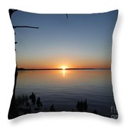 Neuse River Sunset 1 Throw Pillow