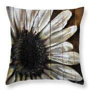Neutral Sunflower Throw Pillow