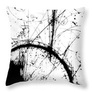 Neutrino, Bubble Chamber Event Throw Pillow