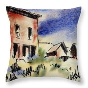 Nevada Ghost Town Throw Pillow