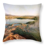 Nevada Hotspring Throw Pillow