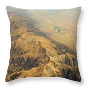 Nevada Mountain Terrain Aerial Throw Pillow