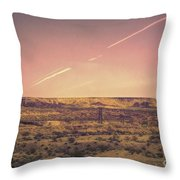 Nevada Usa Valley Of Fire  Throw Pillow