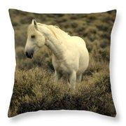 Nevada Wild Horses 4 Throw Pillow