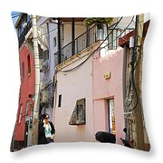 Neve Tzedek Neighborhood In Tel Aviv Throw Pillow by Zalman Latzkovich