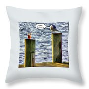 Never Drink And Fly Throw Pillow