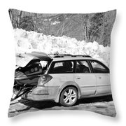 Never Without A Ride Throw Pillow