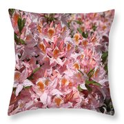 Neverending Azaleas Throw Pillow