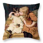 Nevermind Throw Pillow