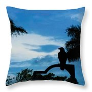 Nevermore In The Tropics Throw Pillow