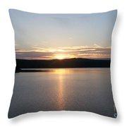 Neversink Reservoir At Sunset Throw Pillow