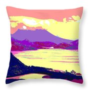 Nevis From The Penninsula Throw Pillow