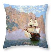 New Albion. Sir Francis Drakes Ship Throw Pillow