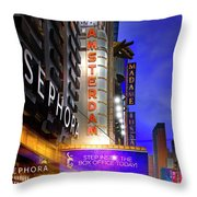 New Amsterdam Theatre Throw Pillow