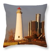 New And The Old Throw Pillow by Michael Peychich