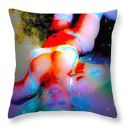 New Background Nude Throw Pillow