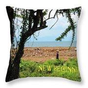 New Beginnings Throw Pillow