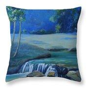 New Braunfels River Scene  Throw Pillow