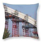 New Bridge Concrete Arc Construction Site Throw Pillow