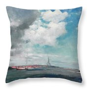 New Brighton From The Mersey Throw Pillow