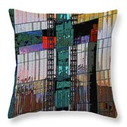 New Building Reflecting Colors Throw Pillow