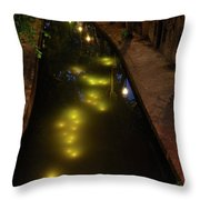 New Canal In Utrecht In The Evening 7 Throw Pillow