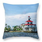 New Canal Lighthouse And Lakefront - Nola Throw Pillow