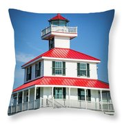 New Canal Lighthouse - Nola Throw Pillow