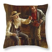 New Cider Throw Pillow